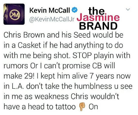 Kevin McCall Denies Chris Brown Responsible For Shooting: Him & His Seed Would Be Dead