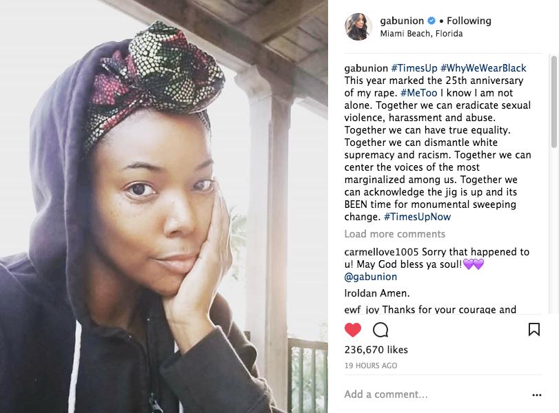Gabrielle Union: It's The 25th Anniversary Of My Rape