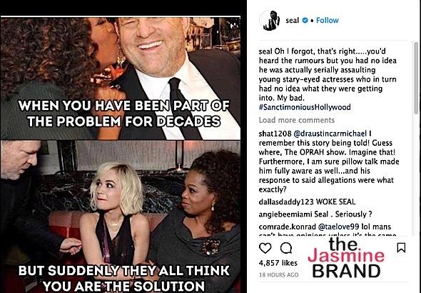 Seal Trashes Oprah Over Harvey Weinstein