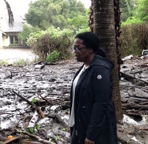 Oprah Property Damaged By Deadly California Mudslides