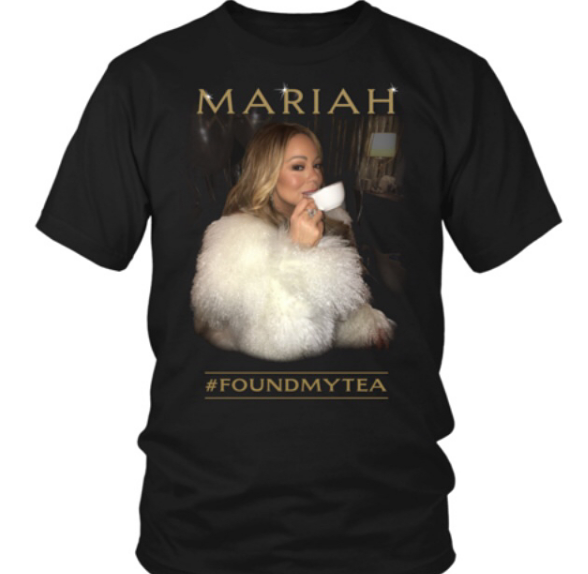 Mariah Carey Launches T-Shirt Merch Inspired By Tea Meme