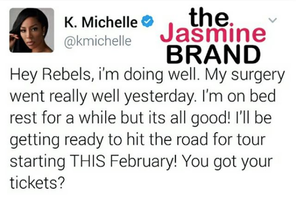 K.Michelle Has Surgery To Remove Surgically Enhanced Booty