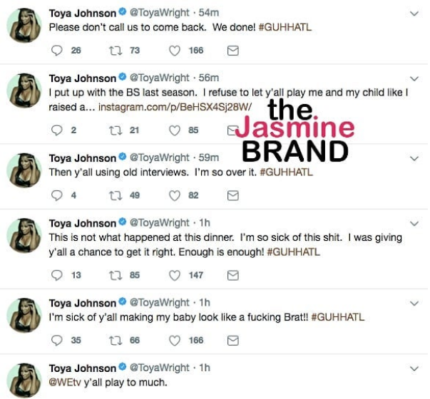 Toya Wright Says 'Growing Up Hip Hop' Makes Daughter Look Like A F*cking Brat: We quit!