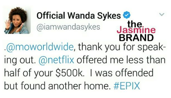Wanda Sykes Supports Mo'Nique: Netflix Only Offered Me $250k!
