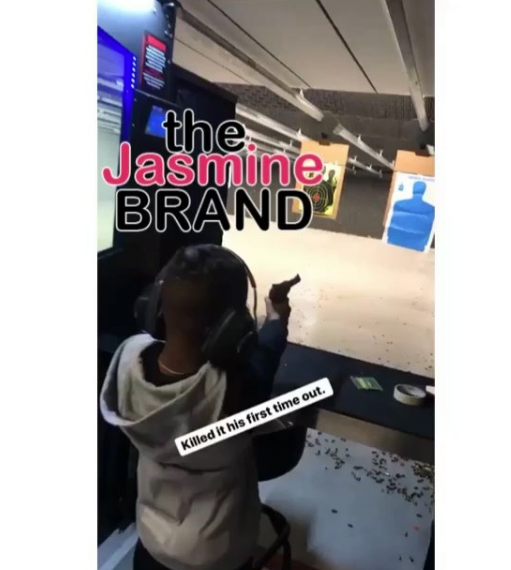 Torrei Hart Takes 9-Year-Old Son To Gun Range