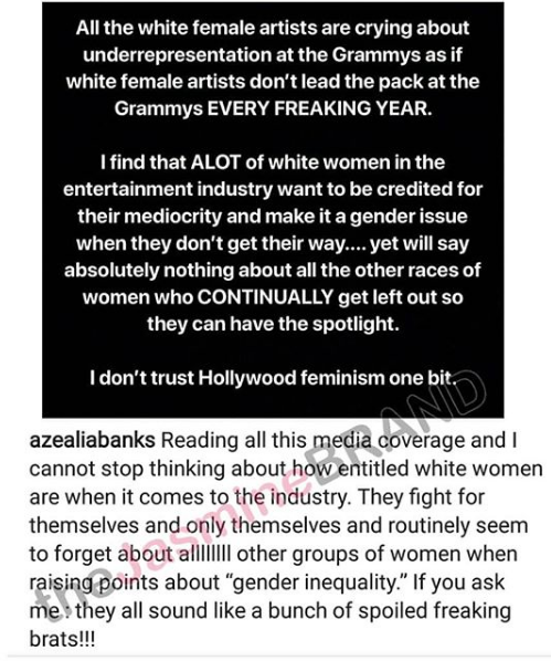 Azealia Banks Call White Women Brats