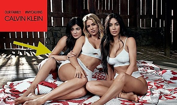 Kylie Jenner Desperately Tries To Hide Pregnant Belly In New Shoot w/ Sisters