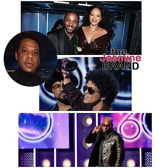 Grammy Awards: Jay-Z Loses + Bruno Mars, Kendrick Lamar, Rihanna Win: Complete Winner List