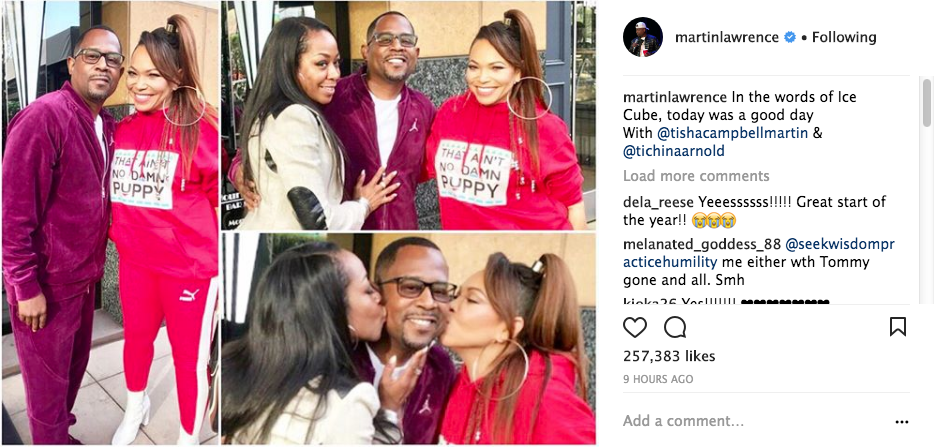 Tisha Campbell Reunites w Martin Lawrence For 1st Time Since Suing Him For Sexual Harassment