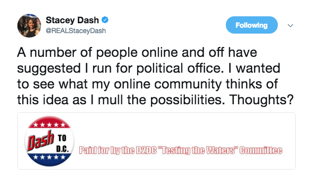 Stacey Dash - I Want To Run For Political Office
