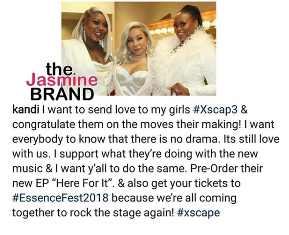 Tiny Explains Changing Xscape Name + Kandi Says There's 'No Drama'
