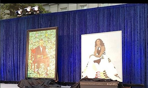 Barack & Michelle Obama Portraits Make History [Photos]