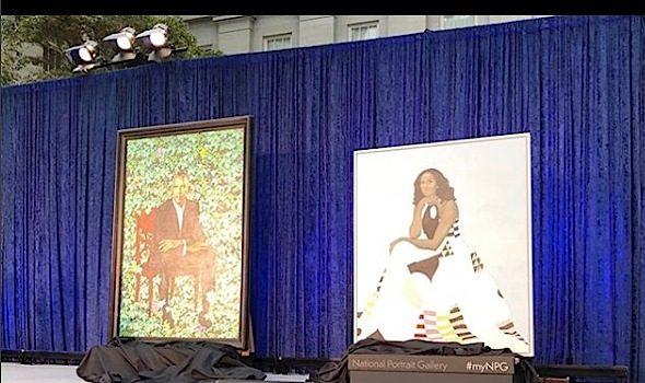 Barack & Michelle Obama Portraits Make History [Photos]