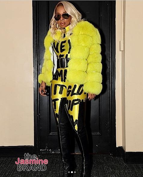 Mary J. Blige Rocks These Pink Lips, Monika Chiang & Tzarina By Ollia [Celebrity Fashion]