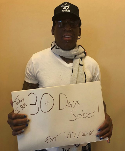 Dennis Rodman – I've Been Sober For 30 Days! [VIDEO]