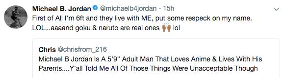 Michael B. Jordan Clarifies Living With His Parents