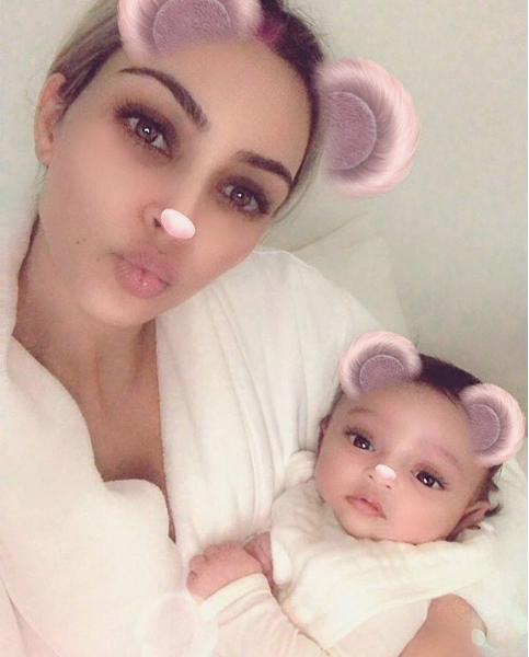 Kim Kardashian Posts Chicago West For 1st Time On Social Media