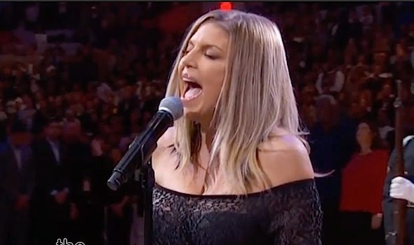 Fergie Responds To National Anthem Criticism: I tried my best! [VIDEO]