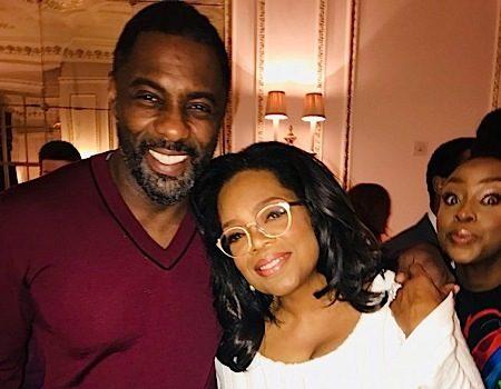 Oprah & Ava DuVernay In London w/ Steve McQueen, Idris Elba & Chiwetel Ejiofor