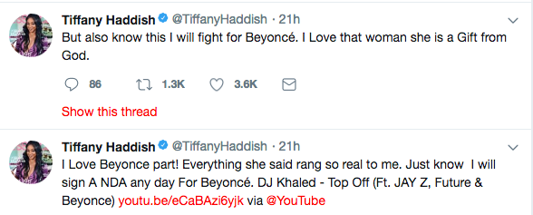 Beyonce Allegedly Shades Tiffany Haddish, Comedian Responds