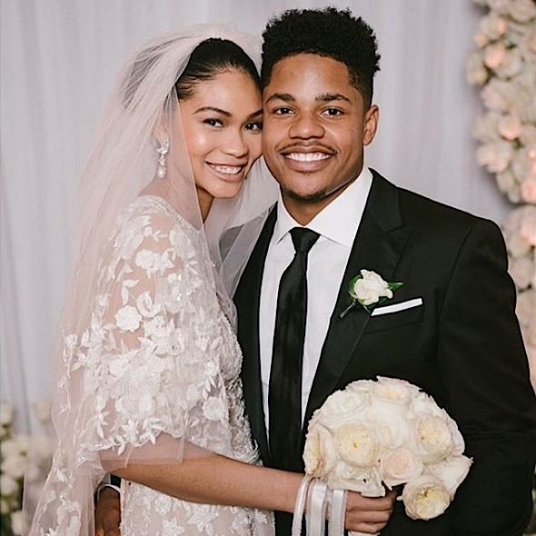 Chanel Iman Marries NFL'er Sterling Shepard! [Photos]