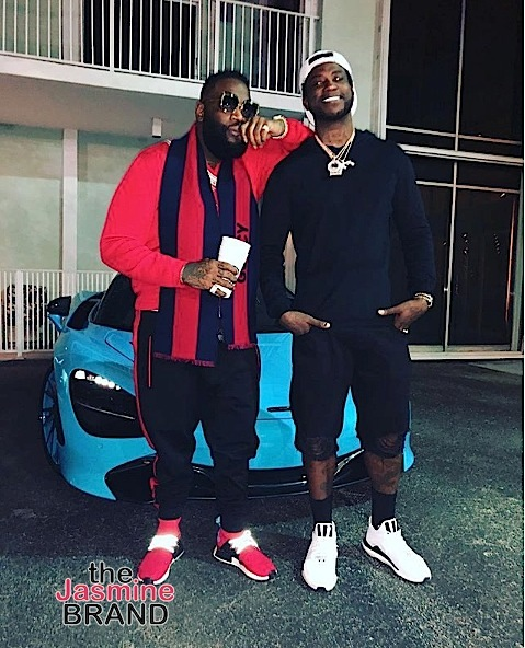 Rick Ross Steps Out With Gucci Mane: I'm All Better Now! [Spotted. Stalked. Scene.]