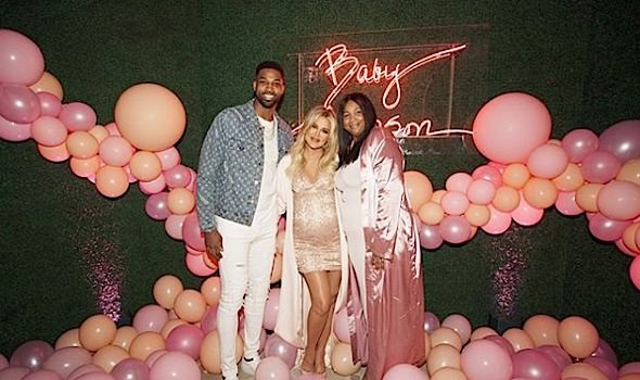 Khloe Kardashian – Tristan Thompson & His Mother Attend Baby Shower