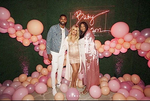 Khloe Kardashian - Tristan Thompson & His Mother Attend Baby Shower