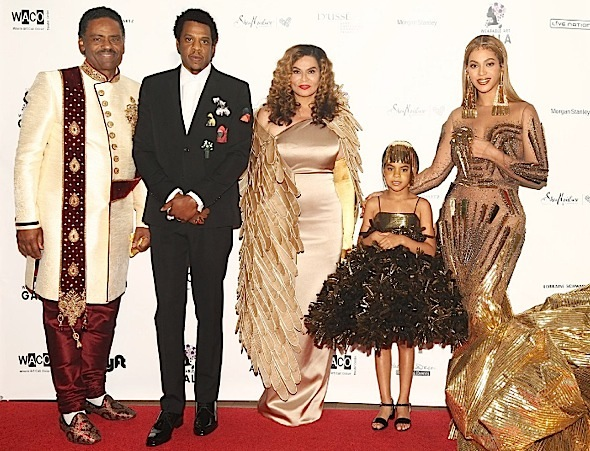 Beyonce Rocks Falguni & Shane, Jay-Z Wears Dior + Blue Ivy In Annakiki [Celebrity Fashion]