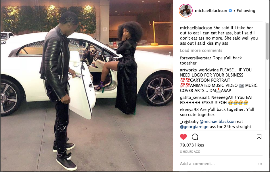 Michael Blackson Reconciles w/ Ex Fiancee After Allegedly Cheating On Her
