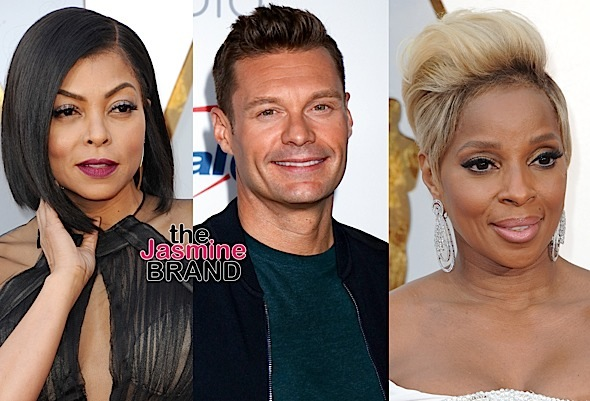 Mary J. Blige Supports Ryan Seacrest + Taraji P. Henson Denies Shading Him