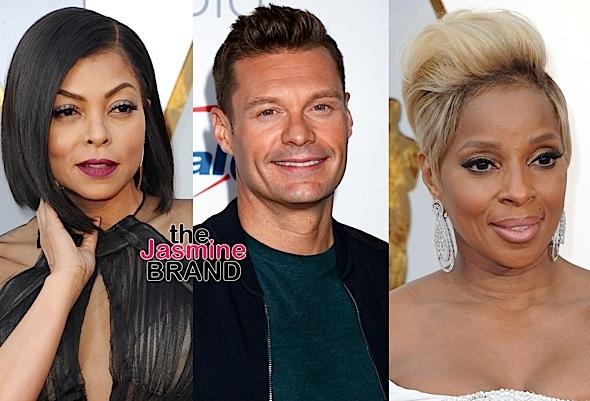 Mary J. Blige Supports Ryan Seacrest + Taraji P. Henson Denies Shading Him