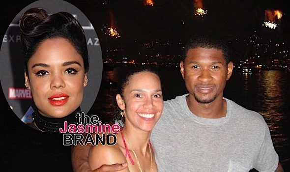 Usher Was Flirting w/ Tessa Thompson Before Announcing Split To Wife Grace Miguel