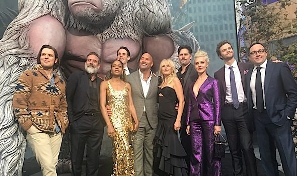'Rampage' Premiere: Dwayne Johnson, Naomie Harris, Malin Åkerman, Joe Manganiello Attend