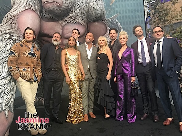 'Rampage' Premiere: Dwayne Johnson, Naomie Harris, Malin Åkerman, Joe Manganiello Attend
