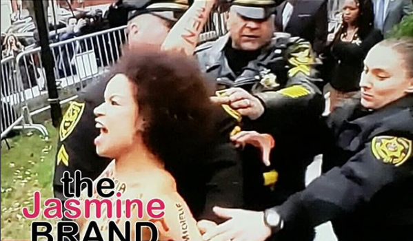 Bill Cosby – Topless Woman Charges At Comedian & Is Arrested [VIDEO]