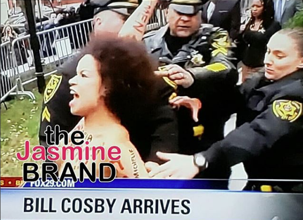 Bill Cosby - Topless Woman Charges At Comedian & Is Arrested