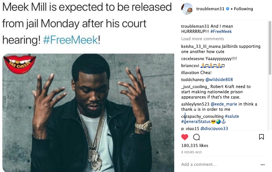 Meek Mill May Be Released From Jail On Monday