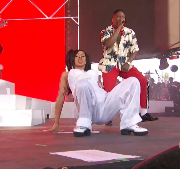 Pregnant Cardi B Channels TLC's Left-Eye, Brings Out Strippers During Coachella Set