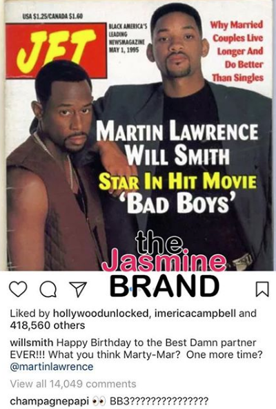 Will Smith Asks Martin Lawrence To Do Another 'Bad Boys' Movie