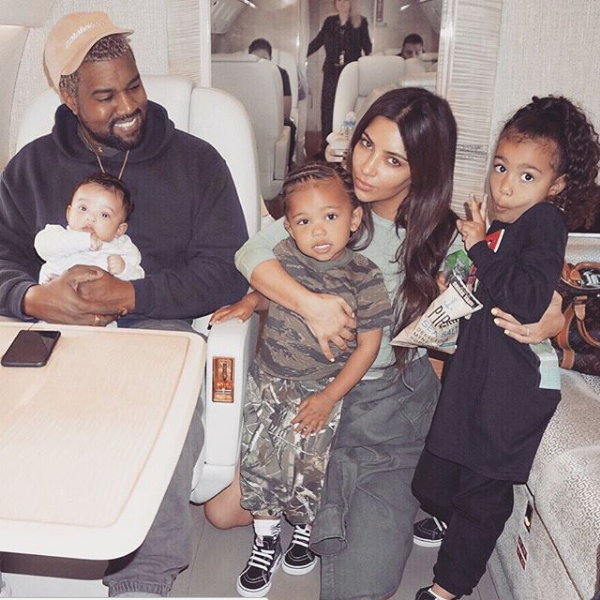 KimYe's Party of 5 On Their Private Jet + Kylie Jenner & Baby Stormi!