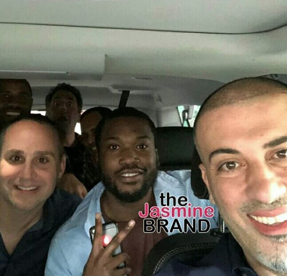 Meek Mill Leaves Jail & Attends 76ers Game! [Photos]