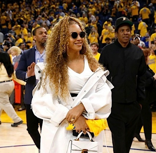 Beyonce Rocks Alexander Wang, Calvin Klein & YSL To Warriors Game [Celebrity Fashion]