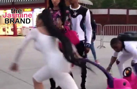 Blac Chyna Loses Major Paycheck From Stroller Company – Six Flags Brawl, Oral Sex Tape To Blame