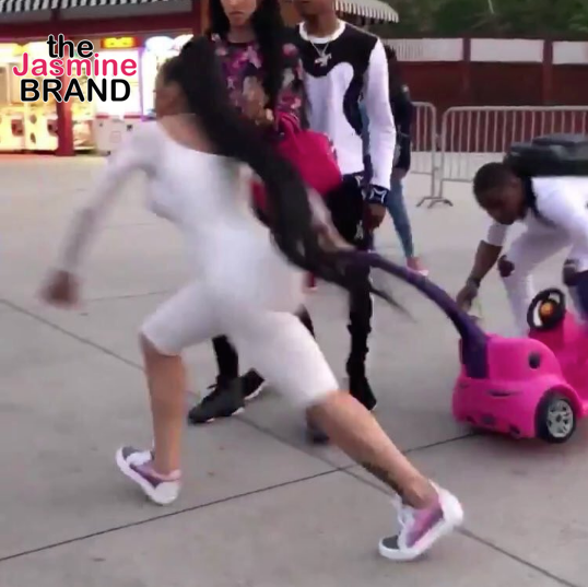Blac Chyna Loses Major Paycheck From Stroller Company - Six Flags Brawl, Oral Sex Tape To Blame