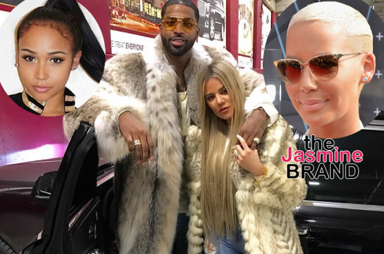 Tristan Thompson's Baby Mama Reacts to NBA Baller Allegedly Cheating on Khloe Kardashian + Amber Rose Chimes In