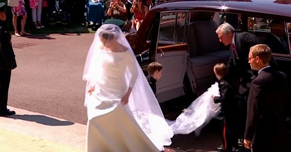 Meghan Markle Wears A Givenchy Wedding Gown [Celebrity Fashion]