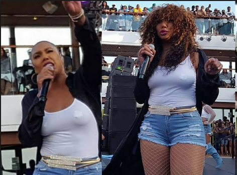 Tamar Braxton Snatches Wig Off During Show [VIDEO]