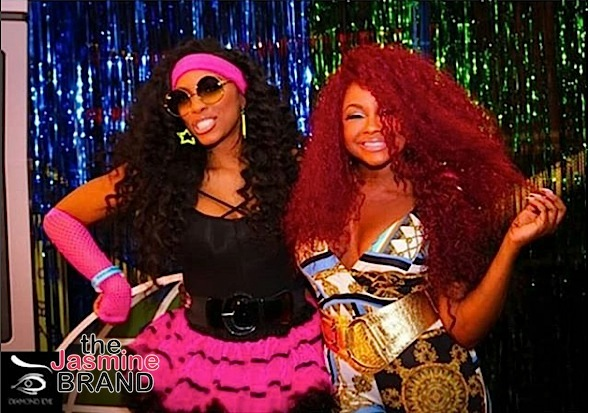 Porsha Williams & Former BFF Phaedra Parks Reunite + Tiny Harris, LaTocha Scott, Reginae Carter Spotted At 80's Bash