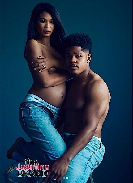 Chanel Iman & Husband Sterling Shepard Are Having A Baby! [Photos]